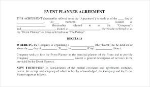 Event Planning Contract Templates Event Planner Contract Template ...