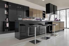 Modulare Küche Fliesen Bilder mit schwarzem Gehäuse – Interieur