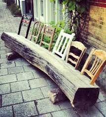 diy creative multiple wood log chairs