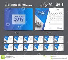 Calender Design Template Desk Calendar 2018 Template Layout Design Blue Cover Set Of 12