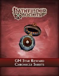 Pathfinder Society Gm Star Reward Chronicle Sheets Pdf