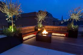 terrace lighting. Shoreditch Roof Terrace Design By The Garden Builders Lighting A