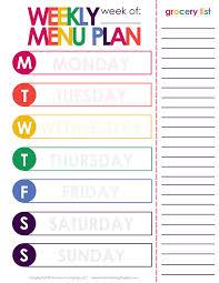 Weekly Dinner Meal Planner Free Printable Included