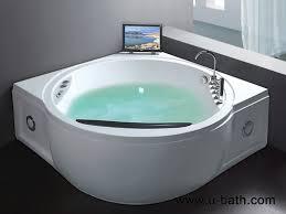 u bath luxury spa bath 2 persons with jet whirlpool bathtub and tv