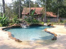 Inground Pools With Waterfalls Beach Swimming Pool Waterfall
