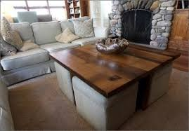 ... Coffee Table With Ottomans Underneath Coffee Table Design