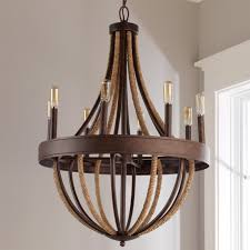large rustic wood chandelier rustic rope wrapped chandelier large simple