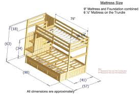 Image of Twin Bed Frame Dimensions Plans