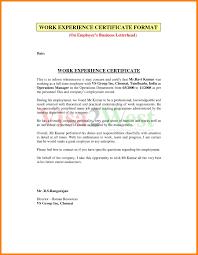 Example Certificate Experience Certificate Sample Computer Operator