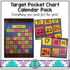 Target Pocket Chart Calendar Pack