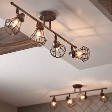 industrial track lighting systems. Rustic Track Lighting Kit 4 Fixture Industrial Old Bronze Dimmable Within  Design 0 Industrial Track Lighting Systems O