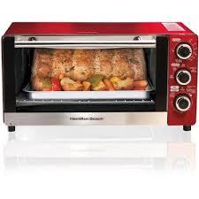 hamilton beach countertop oven hamilton beach 6 slice toaster convectionbroiler oven red model 31514 com hamilton