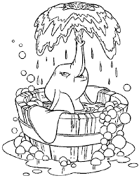 Small Picture Dumbo Taking A Bath Dumbo Coloring Pages Pinterest
