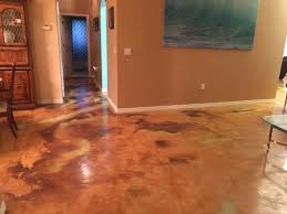 stained concrete floors cost