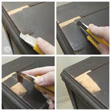 repairs to chipping veneer dresser