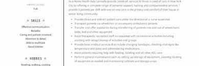 Home Health Aide Resume Sample Writing Guide