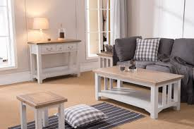 The Georgia furniture collection is a timeless addition to any room in your  home Painted white and having a rustic chunky style with solid oak tops