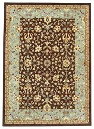 haveli amritsar brown and light blue rug rectangle 8 6 x11 6 traditional area rugs by rug and home