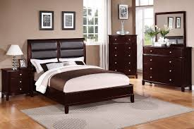 Light Cherry Bedroom Furniture Poundex Associate F9175q Queen Size Bed Frame