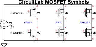 New Mosfet Schematic Symbols Blog Circuitlab
