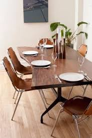 great table and leather dining chairs dining table slab table kitchen dining table