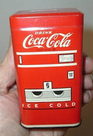 Vending Machine Piggy Bank Unique Antique 48's Metal Coca Cola Old Soda Pop Machine Coin Money Bank