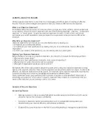 Work Objectives For Resumes Career Objective For Resume For Example