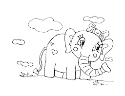 Coloring Page Elephant Filelockerinfo