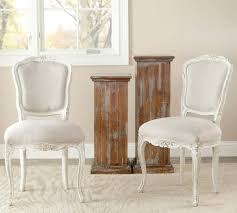 Distressed White Kitchen Table White Distressed Dining Chairs Winda 7 Furniture