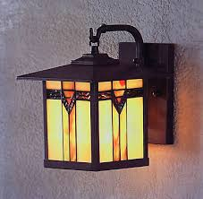 2 stained glass outdoor wall mount sconce lamp exterior entryway