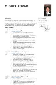 Manufacturing Engineer Resume Samples Visualcv Resume Samples Database