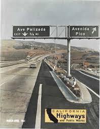 san go freeway in san clemente 1961