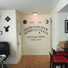 Homemade ouija board wall decoration