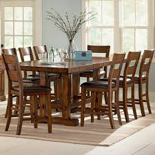 wooden counter height kitchen tables