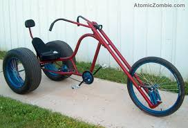 atomiczombie the gladiator phat ass chopper trike