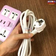 Giá bán Ổ Cắm Điện Thông Minh Chấu 4 Phích Cắm - 3 Cổng USB Sạc Điện Thoại