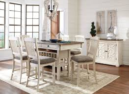 white counter height table. Bolanburg White And Gray Rectangular Counter Height Dining Room Set From Ashley | Coleman Furniture Table L