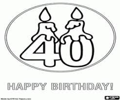Kleurplaat Voor Een 40 Gelukkige Verjaardag Kleurplaten