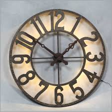 exciting large round wall clock