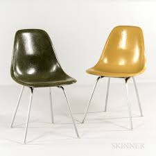Ray and charles eames furniture Prototype Two Ray And Charles Eames For Herman Miller Shell Chairs The Spruce Two Ray And Charles Eames For Herman Miller Shell Chairs Sale
