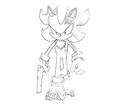 Small Picture Shadow the hedgehog coloring pages