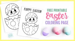 Free Printable Easter Egg Chick Coloring Page Simple Mom Project