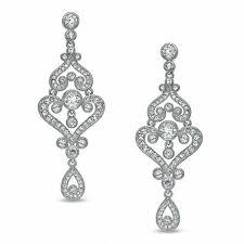 ava nadri crystal chandelier earrings in white rhodium brass