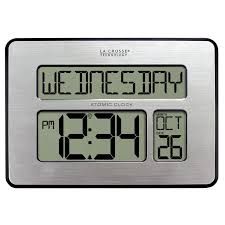 la crosse technology 513 1419bl int backlit atomic full calendar large digit clock