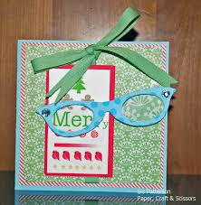 Silhouette Christmas Eye Chart With Eye Glasses Paper