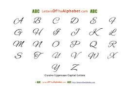 alphabet cursive uppercase