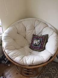 papasan chair cane nest chair with ecru cushion