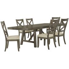 city furniture omaha gray rectangular table   wood chairs