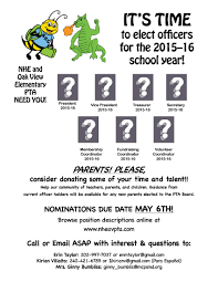 Pta Elections Flyer Its Time To Elect Officers For The 2015 16 School Year Es La