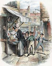 oliver twist fictional character com the artful dodger picking a pocket to the amazement of oliver twist far right